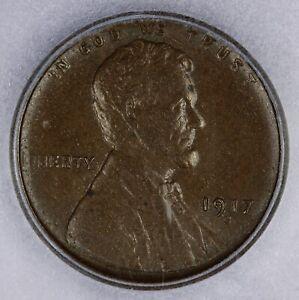 1917-S 1917 Lincoln Wheat Cent ICG AU58