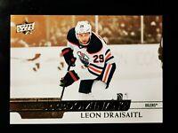 LEON DRAISAITL - 2020-21 UD SERIES 1 INSERT PREDOMINANT GOLD PR-26