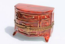 New ListingChest of Drawers Limoges Trinket Box with Painted Folded Shirt Inside