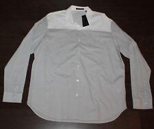 $225 NEW Theory Dress Shirt Men's XXL 2XL Gray White Color Block COSTO Button