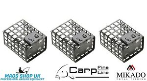 MIKADO SQUARE METAL CAGE FEEDERS WITH SWIVEL,5,10,15,20 GRAM, PACK OF 3,4 CARP