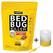 HARRIS Bed Bug Killer Diatomaceous Earth Powder Poison Treatment 4lb with Duster