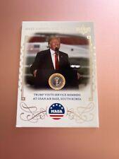 2020 POLITICAL DECISION PREMIUM CARD MAGA M22 TRUMP VISITS MEMBERS AT OSAN AIR B