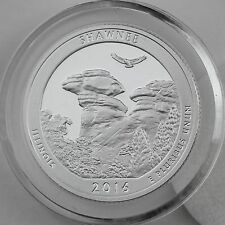 2016-S Shawnee National Forest SILVER Proof Quarter, Crystal Clear Coin Capsule