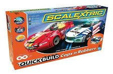 Scalextric QUICK BUILD Cops 'n' Robbers 1:32 Scale Slot Car Race Set C1323T