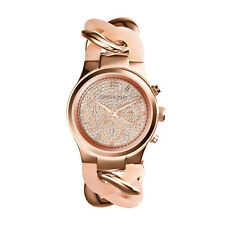 NEW MICHAEL KORS MK4283 LADIES ROSE GOLD RUNWAY TWIST WATCH - 2 YEAR WARRANTY