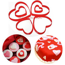 Loving Heart Cookie Cutters Valentine's Baking Tools Fondant Cake Biscuit Mold