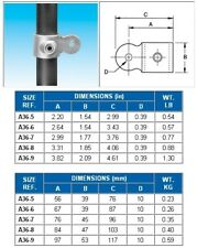 40NB PIPE FITTING-C61YY SINGLE SWIVEL SOCKET GALVANISED STEEL CLAMP