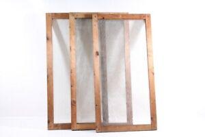 1 x Age Gaze Window Mounting Wood Frame Wood Ganze-Fenster Vintage