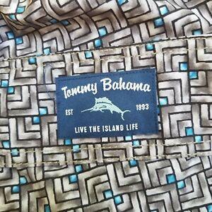 Tommy Bahama Baja  Mosaic Swim Trunks Board Shorts  Men's 4XLB Fog Grey NWT $99
