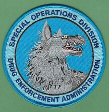 DEA DRUG ENFORCEMENT ADMINISTRATION SPECIAL OPERATIONS DIVISION POLICE PATCH