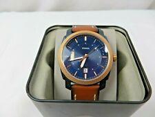 Fossil Men's FS5266 Machine Three-Hand Date Luggage Leather Watch