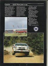 Lancia HPE Prisma Gamma Coupe Volumex Delta 037 Brochure Depliant 1980