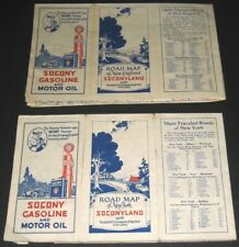 New Listing1926 Road Map Of New York New England Soconyland Standard Oil Co Socony Gas Oil