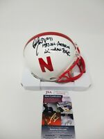 Dean Steinkuhler Autographed SIGNED Nebraska Huskers Mini Helmet 2 Inscriptions!
