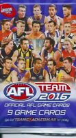 2016 afl teamcoach 5x single sealed packets-in stock