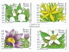 Sweden 2459BA-2462BA fine used / cancelled 2005 Flowers