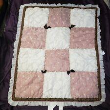 CoCalo Daniella Luxury Baby Bedding Nursery Crib Quilted COMFORTER Blanket Pink