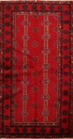Tribal Traditional Geometric Balouch Oriental Area Rug Wool Hand-knotted 4x6 RED