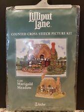 """LILLIPUT LANE Marigold Meadow  CROSS STITCH KIT LL08 Anchor 8"""" x 10.5"""" NIP"""
