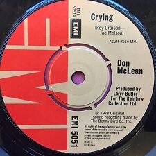 Don McLean - Crying / Genesis (In The Beginning) EMI 5051 Ex Condition A1/B1
