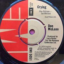 Don McLean-Crying/Genesis (au début) EMI 5051 EX condition A1/B1