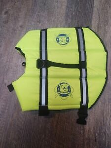 PAWS ABOARD SMALL DOG LIFE JACKET PET PRESERVER NEON YELLOW