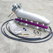 for Nissan R33 R34 RB25 Intake Manifold Plenum+Fuel Rail & bolt on Throttle Body