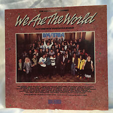 """USA FOR AFRICA – WE ARE THE WORLD""""LP Record 33RPM M. Jackson, Stevie Wonder"""