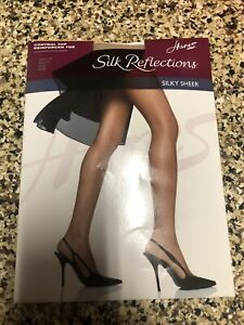 Hanes Silk Reflections Silky Sheer Control-Top Reinforced Toe Pantyhose EF 718