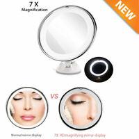 RUIMIO 7 Zoll 7 fache Vergrößerung LED Kosmetikspiegel  Make-up Pflege Spiegel