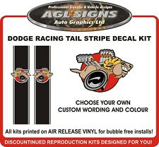 DODGE RACING TAIL STRIPE CUSTOM DESIGN     Ram Dakota Hemi