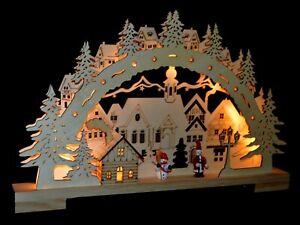 3D Led Schwibbogen Lichterbogen Weihnachten Erzgebirge Pyramide 413 mit Trafo