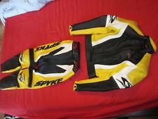 Tuta NUOVA moto PELLE SPIKE donna, colore giallo/nero taglia 44