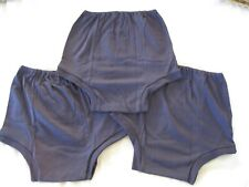 "THREE Pairs Girls REPLICA CHERUB Navy School Knickers - Size 22 (W33-36"") 07/04"