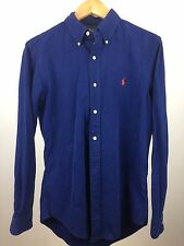 Polo By Ralph Lauren Custom Fit Blue Small 100% Authentic/Genuine