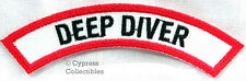 DEEP DIVER CHEVRON - SCUBA DIVING iron-on DIVE PATCH embroidered applique