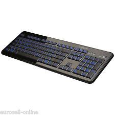 BELEUCHTETE USB DESIGN TASTATUR PC KEYBOARD COMPUTER BELEUCHTET LED QWERTZ NEU