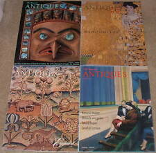 Lot of 4 Magazine Antiques, furniture, clocks, porcelains, glass, quilts, art