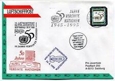 1995 Luftschiffpost n. 10 Pro Juventute Dirigibile OE-ZHZ Anlablich 50 jahre ONU