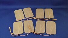 8 Replacement Pads for Massagers / Tens Units electrode pads2x3.5Inch Tan Cloth
