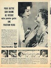 PUBLICITE ADVERTISING    1957   VICKS VAPORUB   pour combattre le rhume