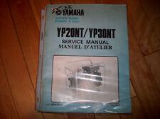 YAMAHA WATER PUMP SERVICE MANUAL YP20NT/YP30NT