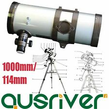 Brand New Professional 1000mm/114mm Astronomical Telescope With Tripod
