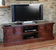 La Roque solid mahogany furniture large widescreen television cabinet stand unit