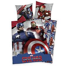 """Bettwäsche Set Avengers """"Civil War"""" 135x200 80x80cm Iron Man Captain America"""