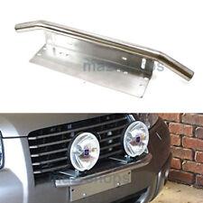 23'' Car Silver OffRoad Bull Bar LED Light License Plate Mounting Bracket Holder