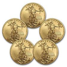 2017 1 oz Gold American Eagle Brilliant Uncirculated (Lot of 5) - SKU #117469