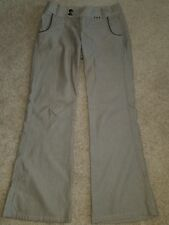 Mexx Beige with Bronze Buttons Women's Pants Size 8