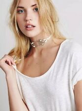 Free People White Leather Concho Choker Necklace By Heyoka Retails $38.00
